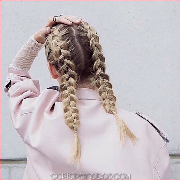 Peinados con trenza holandesa