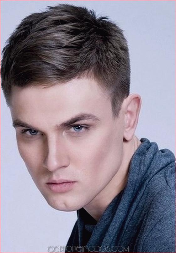 Cortes de cabello corto para hombres jóvenes