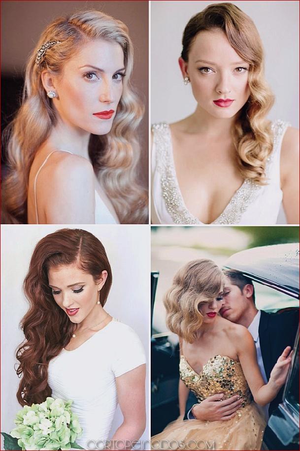 25 clásicos y hermosos peinados de boda vintage