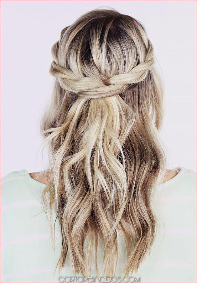 Los 25 peinados más atractivos y hermosos de Half Up Half Down