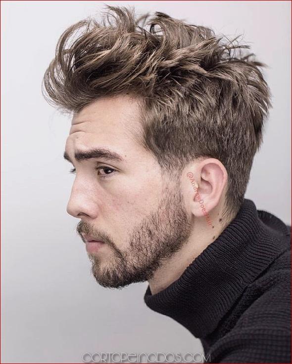 Nuevos peinados desordenados para hombres