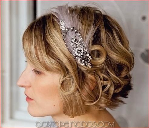 23 peinado de boda más glamoroso para el pelo corto
