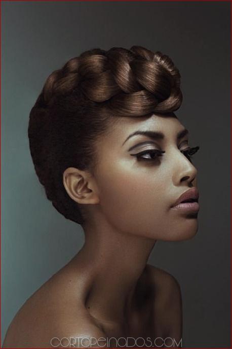 28 peinados de boda negro para una apariencia elegante