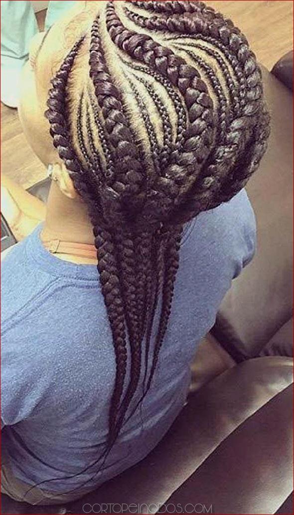 100 peinados audaces de cornrow que te encantarán