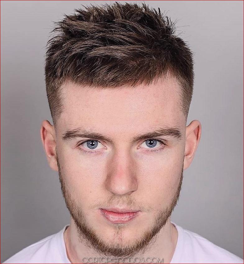 Peinados guapos para hombres pelo corto