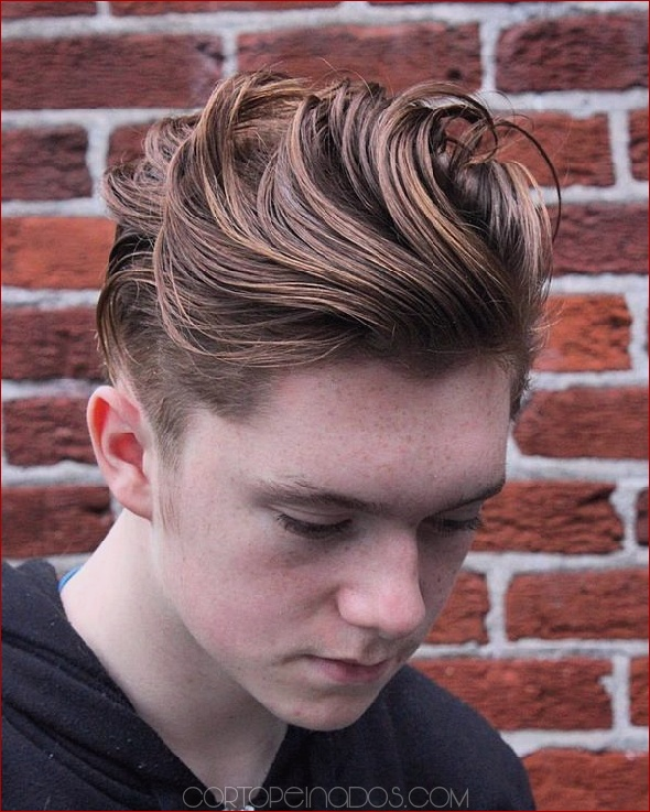 40 formas de peinar los lados cortos, cortes de cabello superiores largos