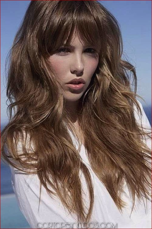 Cortes con fleco en cabello largo