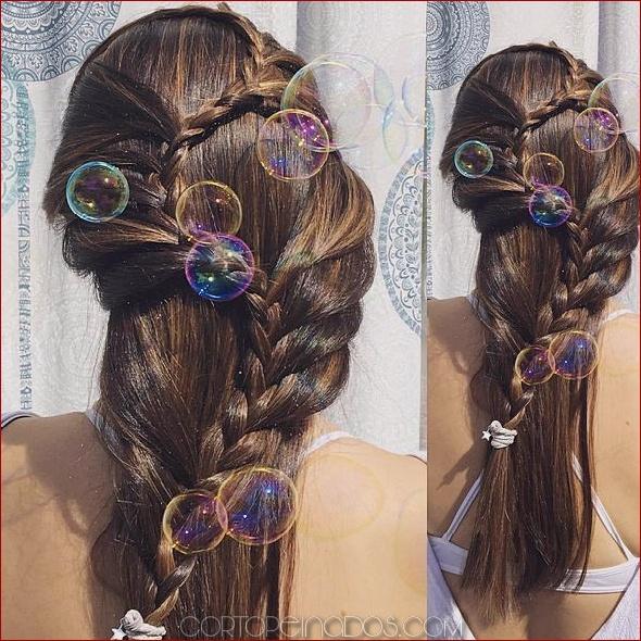 Peinados naturales para cabello largo
