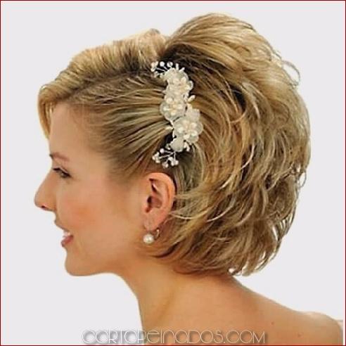 Especial peinados pelo corto rizado para boda Fotos de cortes de pelo Ideas - 50 peinados de boda para el pelo corto - Cortopeinados.com
