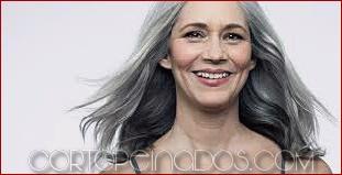 Estilos de pelo gris precioso