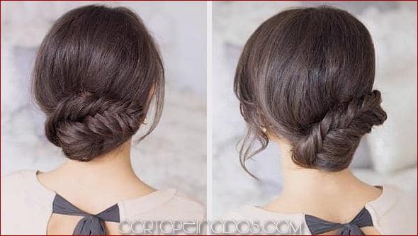 25 Updos modernos y hermosos para cabello largo