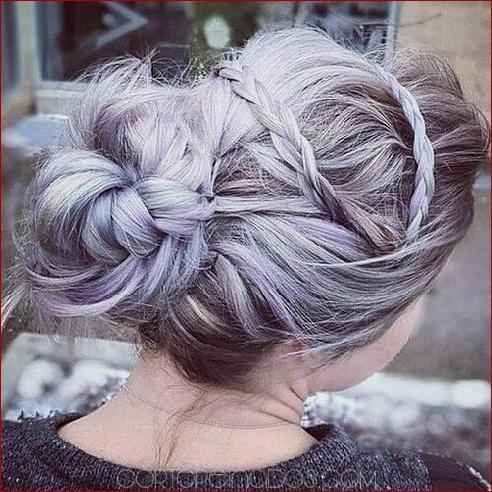 50 elegantes updos para cabello largo