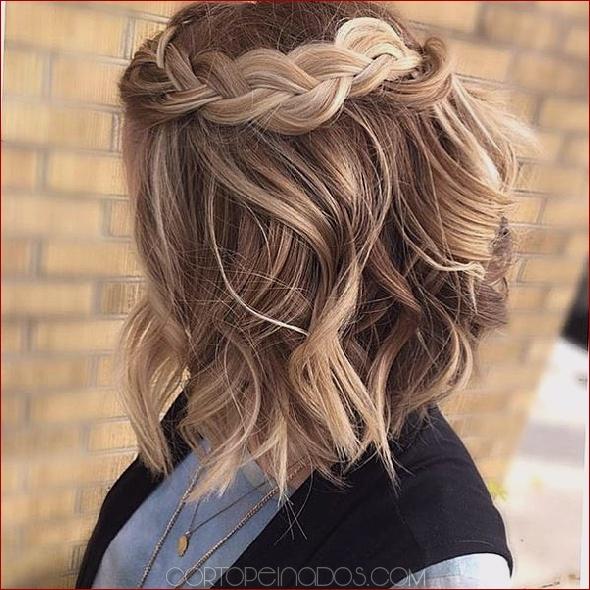 Peinados para cabello corto y ondulado